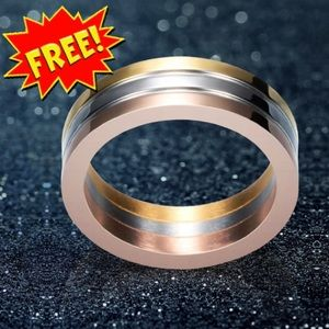 ‼️FREE‼️ Gorgeous Tri-color Stainless Steel Ring
